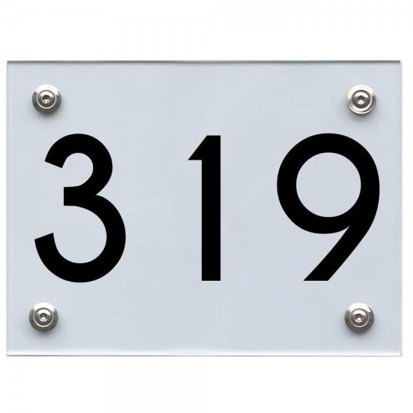Hausnummernschild 319 schwarz