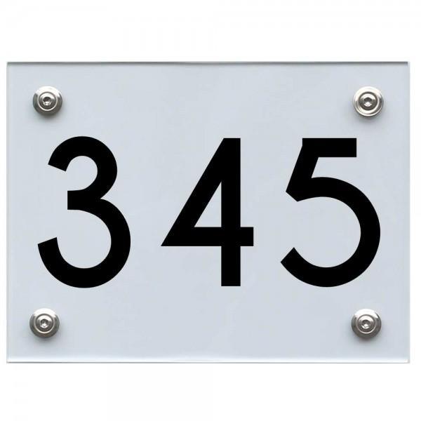 Hausnummernschild 345 schwarz