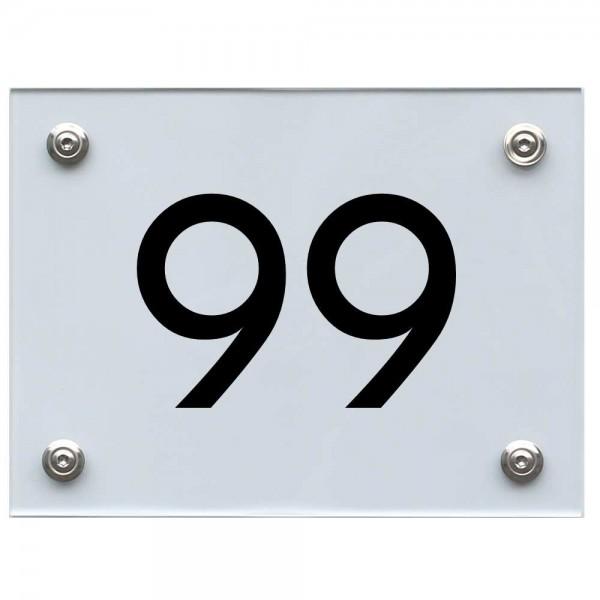 Hausnummernschild 99 schwarz