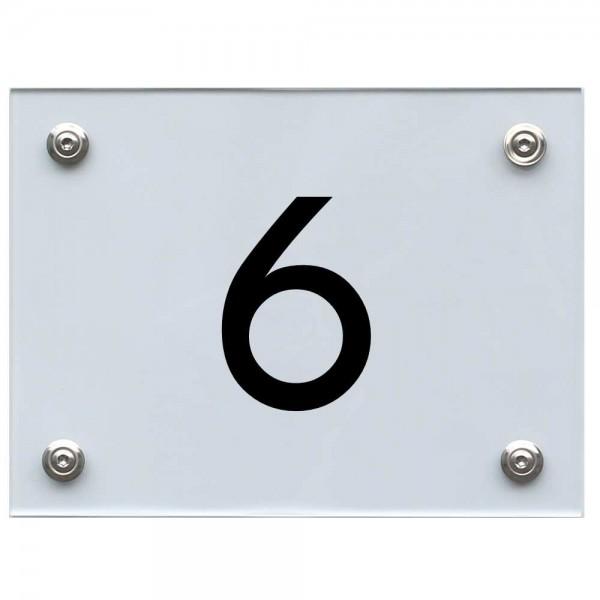 Hausnummernschild 6 schwarz