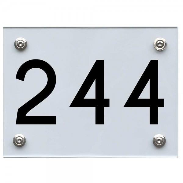 Hausnummernschild 244 schwarz
