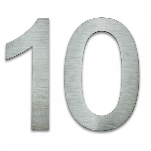Hausnummer Edelstahl 10