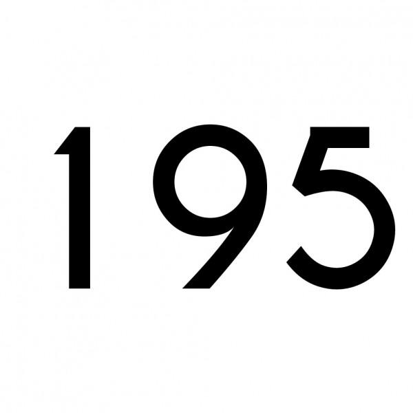 Hausnummer Aufkleber 195 schwarz