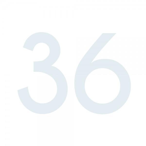 Zahlenaufkleber 36 weiß