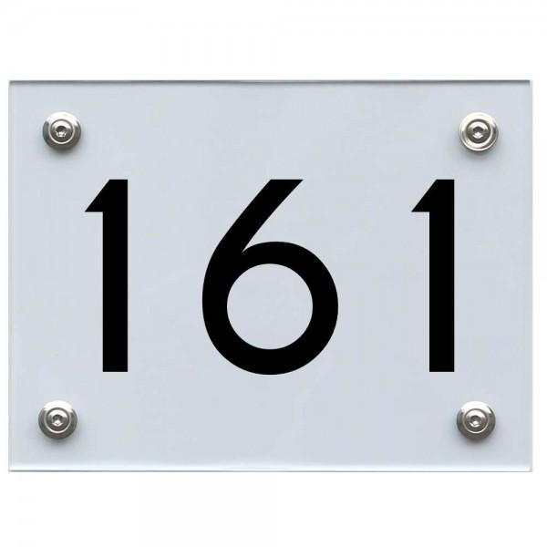 Hausnummernschild 161 schwarz