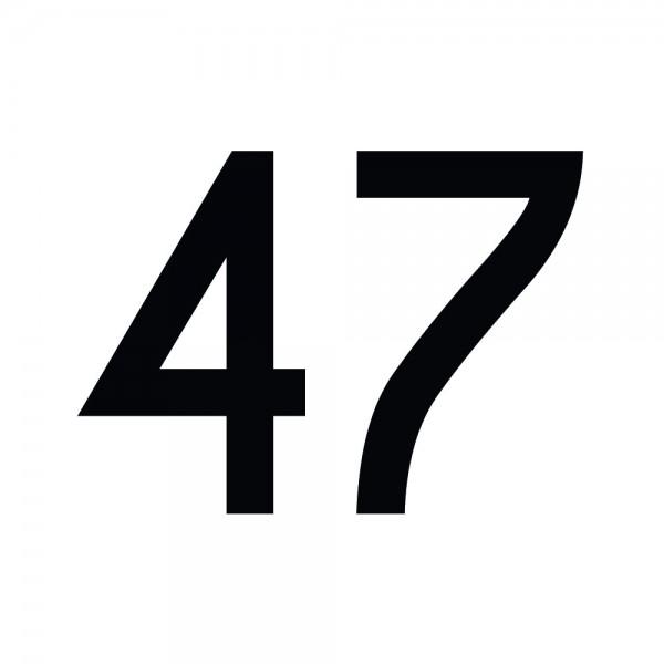 Zahlenaufkleber 47 schwarz