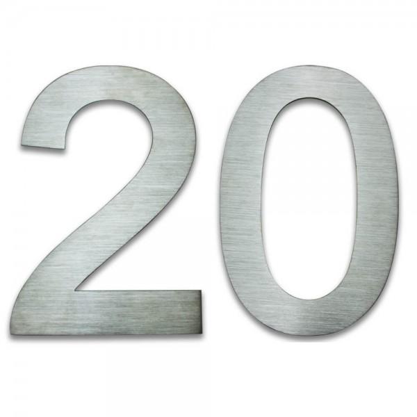Hausnummer Edelstahl 20