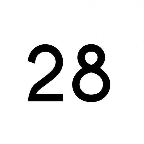 Hausnummer Aufkleber 28 schwarz