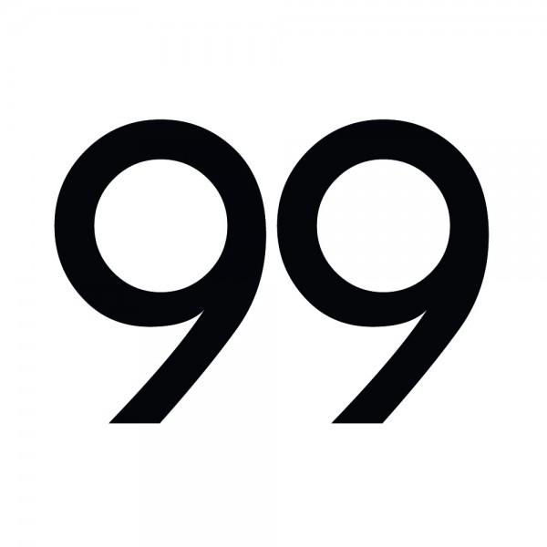 Zahlenaufkleber 99 schwarz
