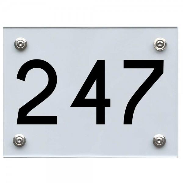 Hausnummernschild 247 schwarz