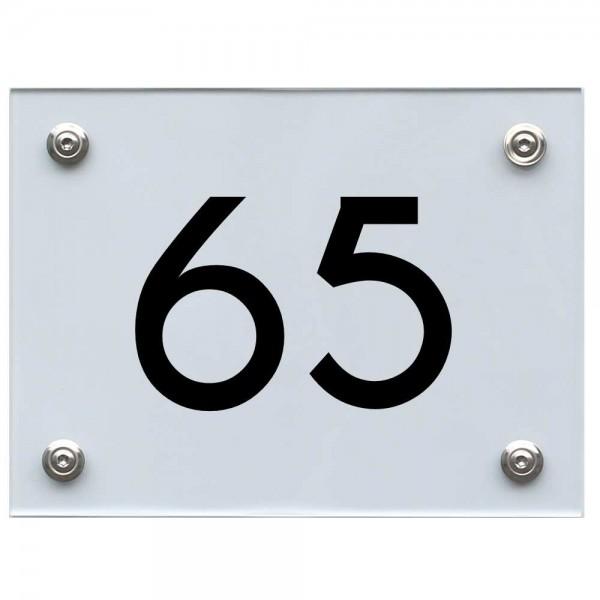 Hausnummernschild 65 schwarz