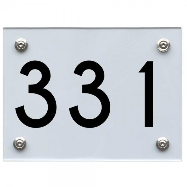 Hausnummernschild 331 schwarz
