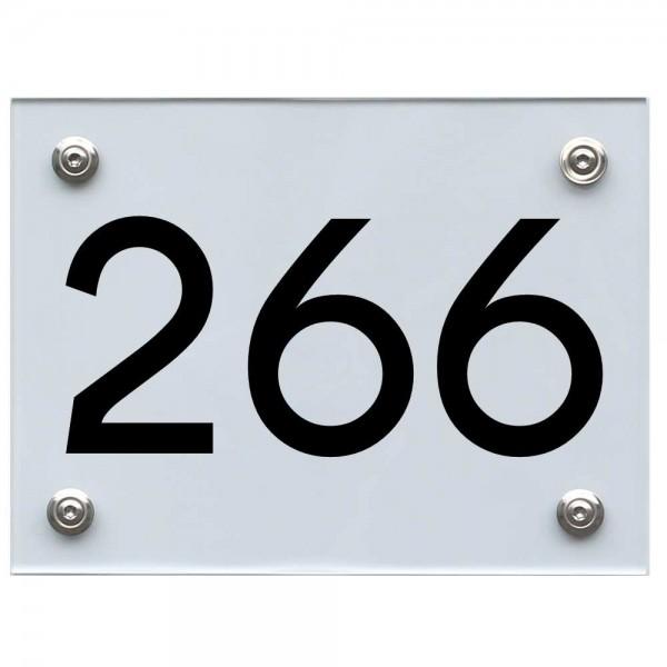Hausnummernschild 266 schwarz