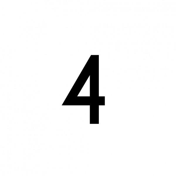 Hausnummer Aufkleber 4 schwarz