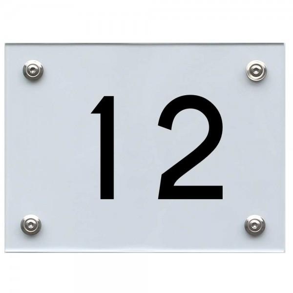 Hausnummernschild 12 schwarz