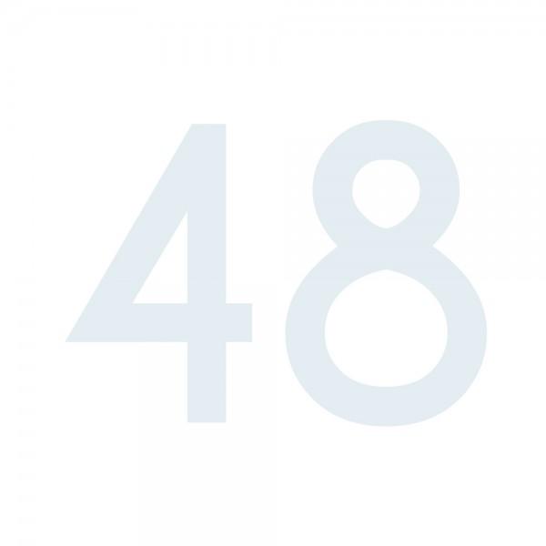 Zahlenaufkleber 48 weiß