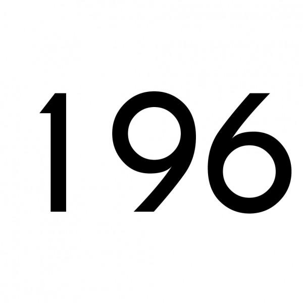 Hausnummer Aufkleber 196 schwarz