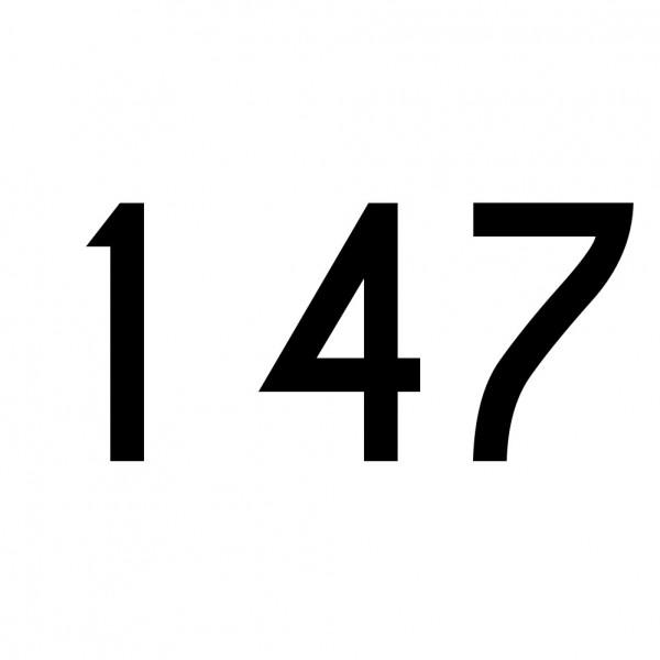 Hausnummer Aufkleber 147 schwarz