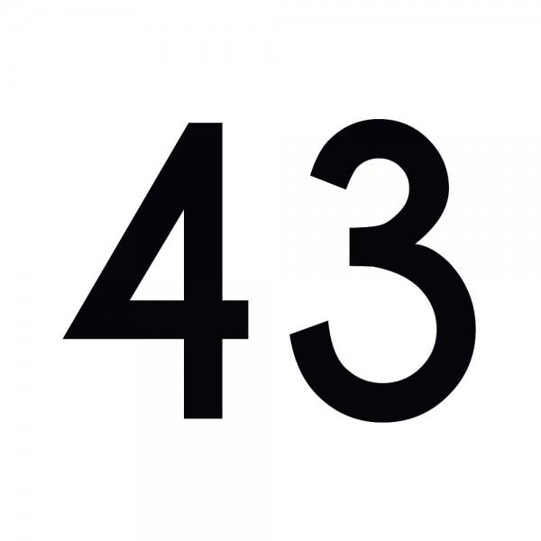 Zahlenaufkleber 43 schwarz