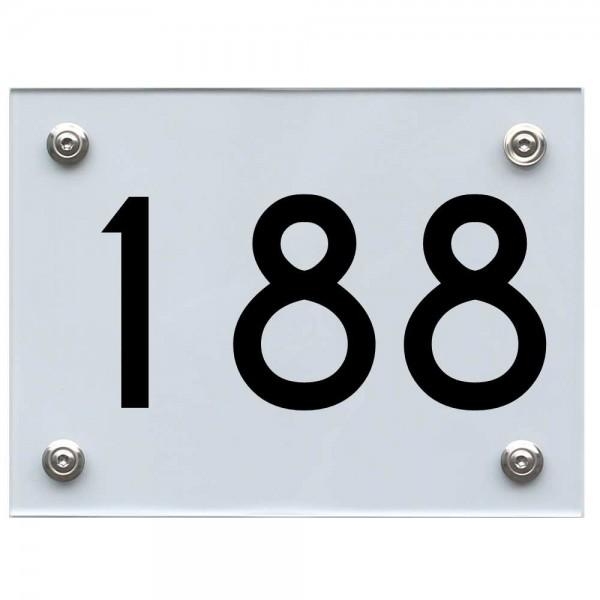 Hausnummernschild 188 schwarz