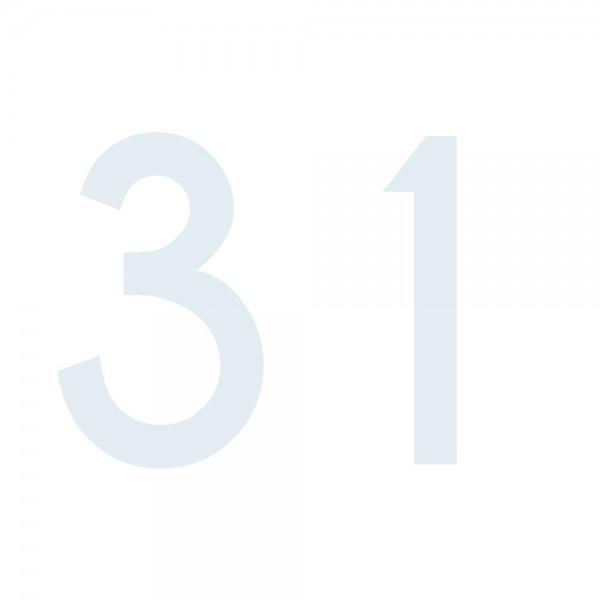 Zahlenaufkleber 31 weiß