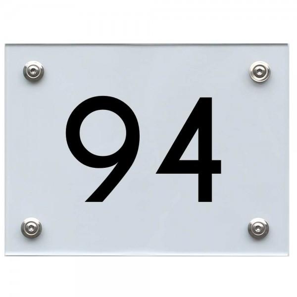Hausnummernschild 94 schwarz