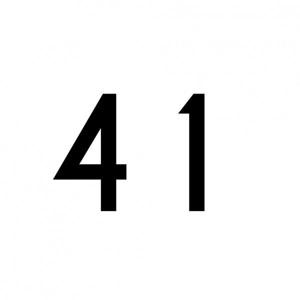 Hausnummer Aufkleber 41 schwarz