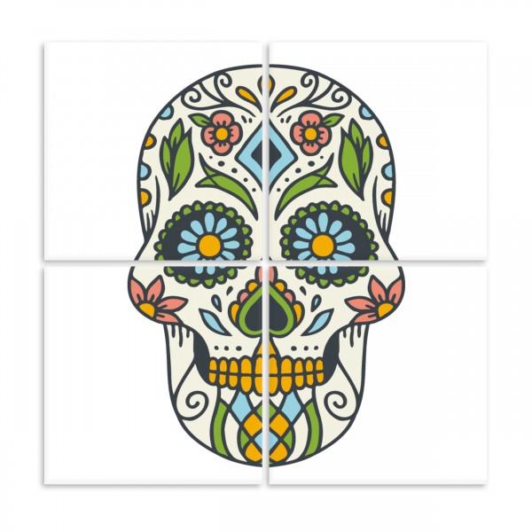 """Fliesenbild """"Skull"""" für 15x15cm Fliesen"""