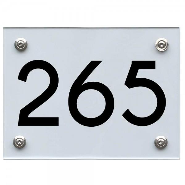 Hausnummernschild 265 schwarz