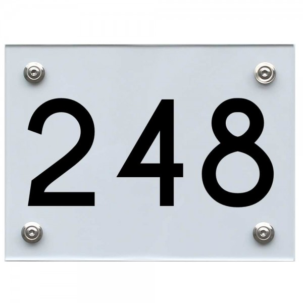 Hausnummernschild 248 schwarz