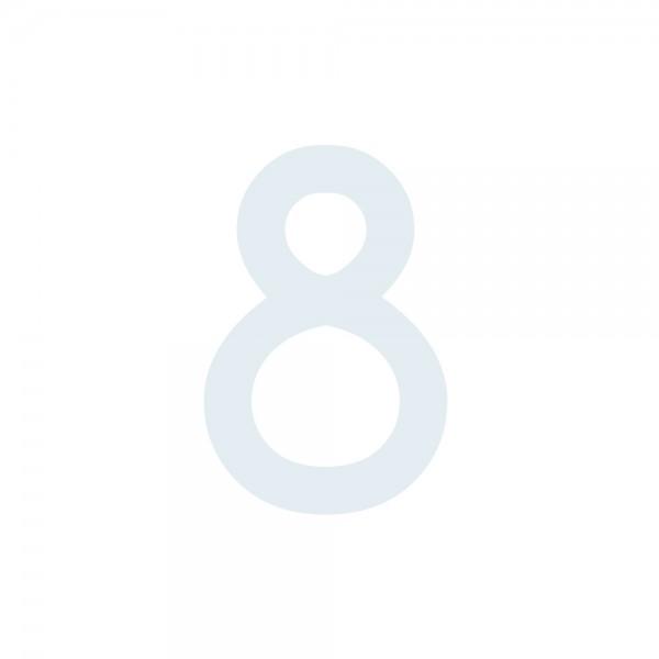 Zahlenaufkleber 8 weiß