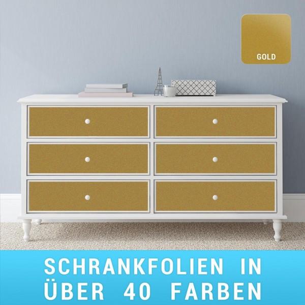Schrankfolie gold