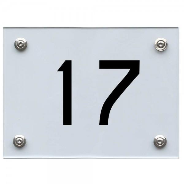 Hausnummernschild 17 schwarz