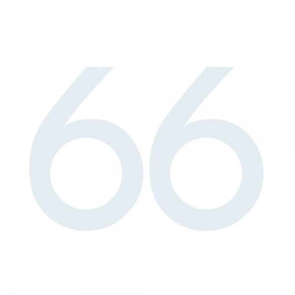Zahlenaufkleber 66 weiß