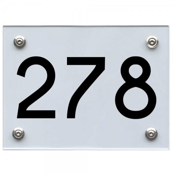 Hausnummernschild 278 schwarz