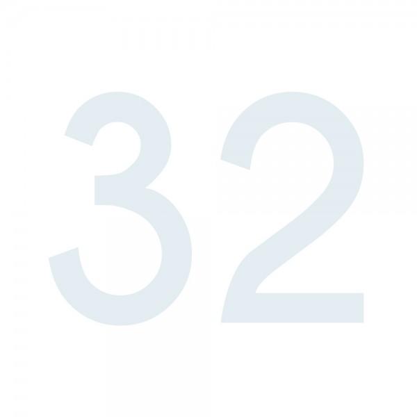 Zahlenaufkleber 32 weiß