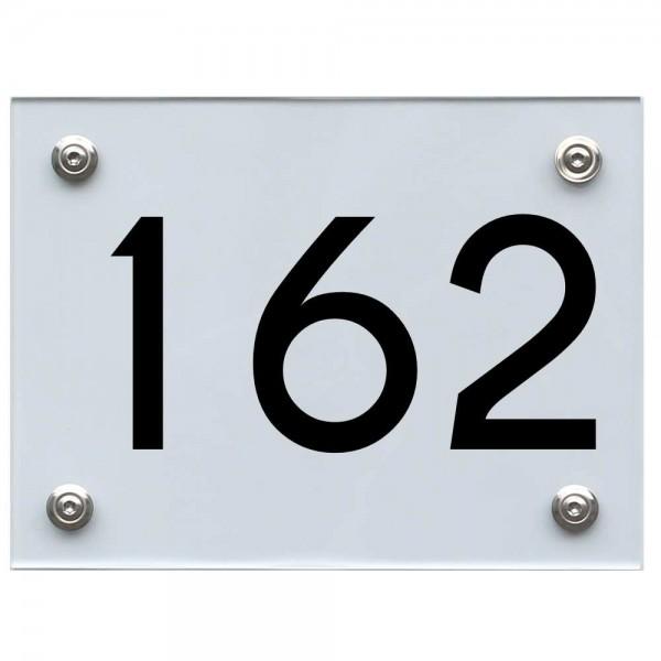 Hausnummernschild 162 schwarz
