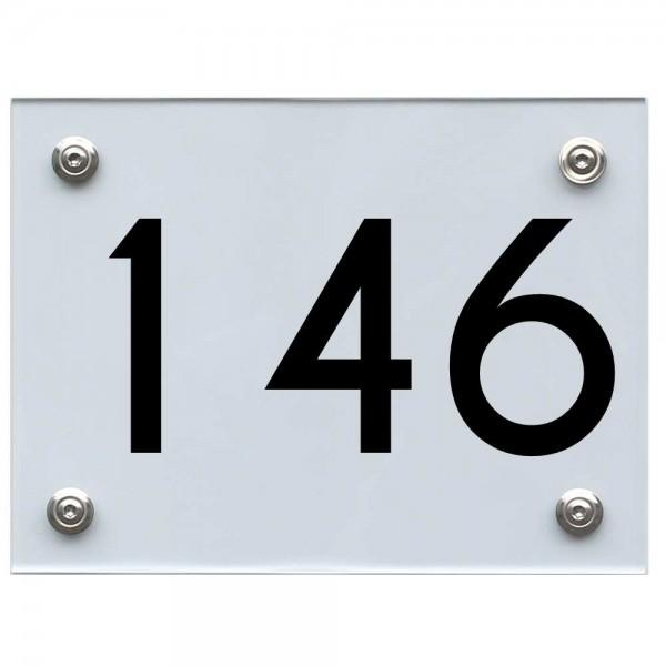 Hausnummernschild 146 schwarz