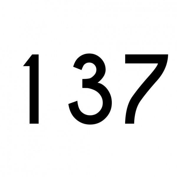 Hausnummer Aufkleber 137 schwarz