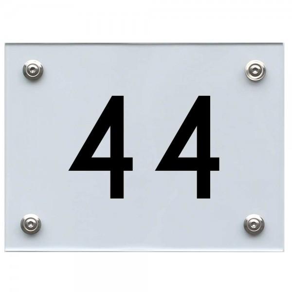 Hausnummernschild 44 schwarz