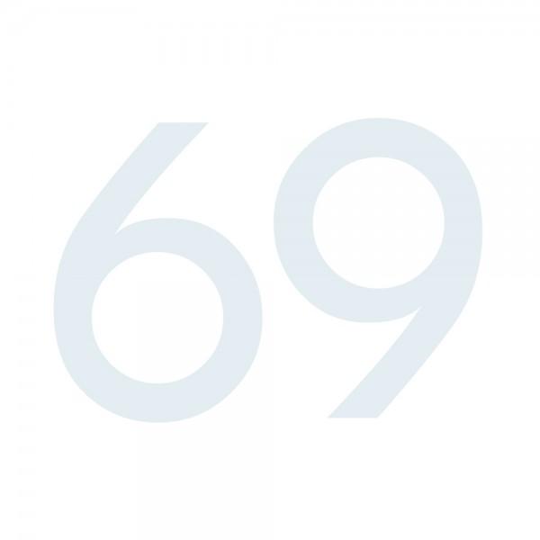 Zahlenaufkleber 69 weiß