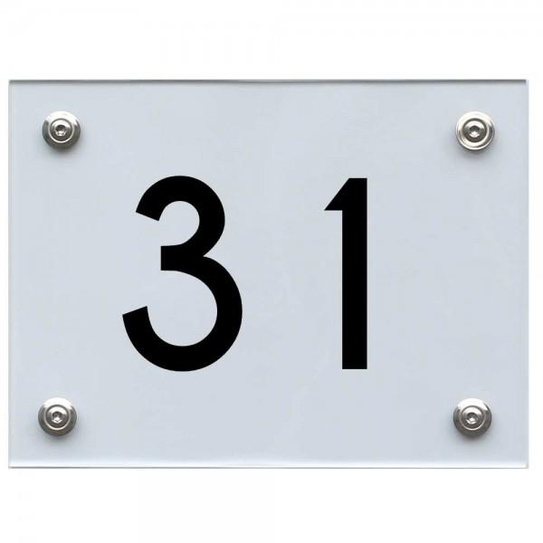 Hausnummernschild 31 schwarz