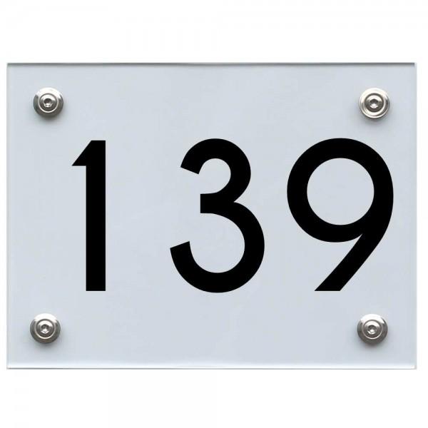 Hausnummernschild 139 schwarz