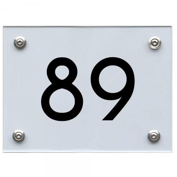 Hausnummernschild 89 schwarz