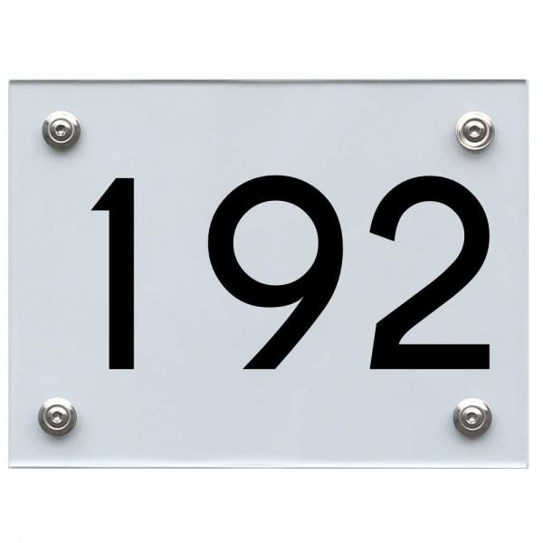 Hausnummernschild 192 schwarz