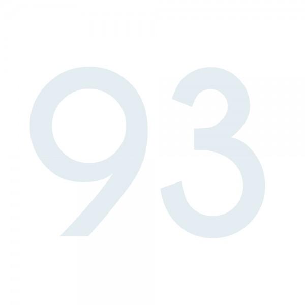 Zahlenaufkleber 93 weiß