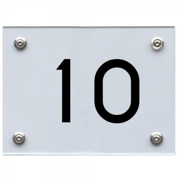 Hausnummernschild 10 schwarz