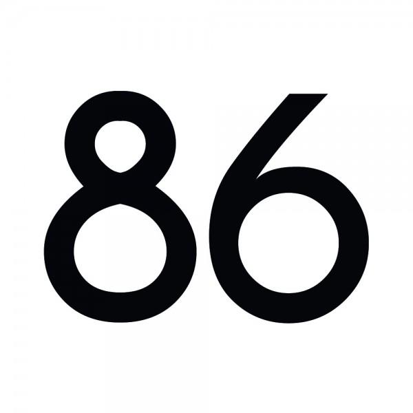 Zahlenaufkleber 86 schwarz