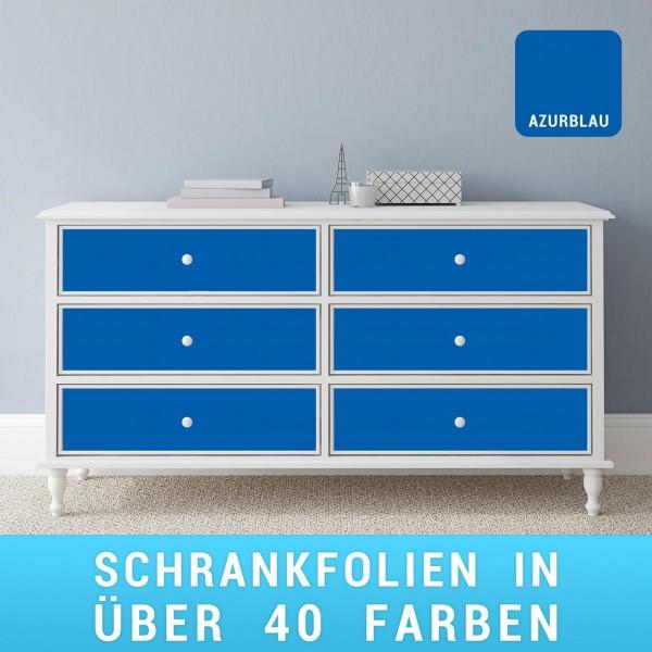 Schrankfolie azurblau