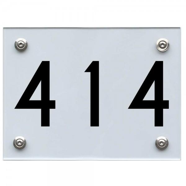 Hausnummernschild 414 schwarz